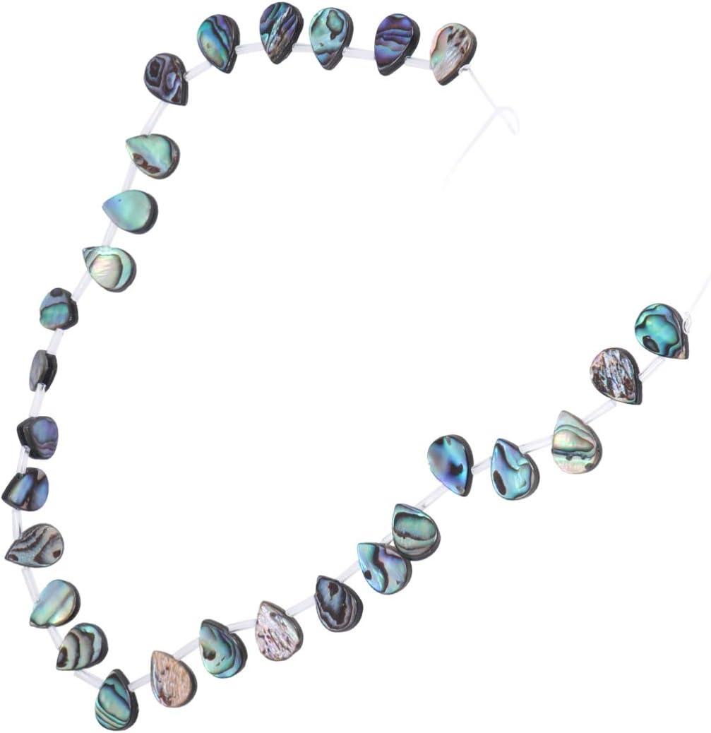 Healifty cuentas de concha de abulón piedras preciosas naturales semipreciosas cuentas sueltas cuentas espaciadoras para pulseras de bricolaje collares fabricación de joyas