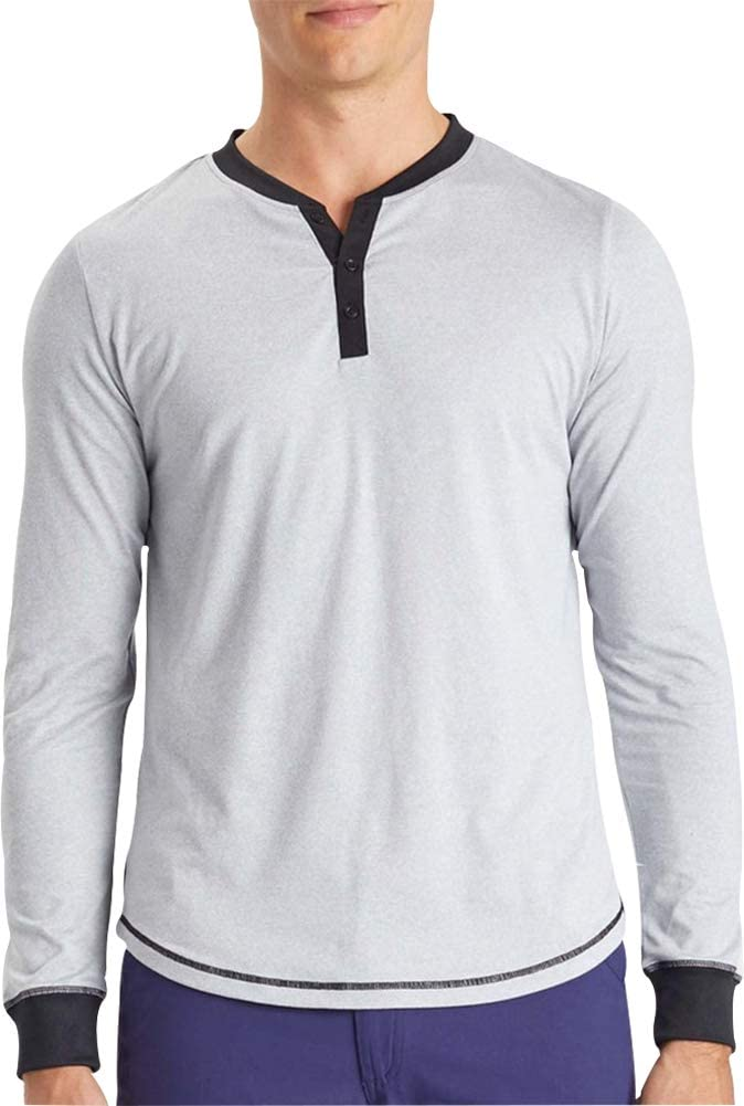 Ohmme Dawn Long Sleeve Mens Yoga Top Grey Made From Recycled Plastic Bottles