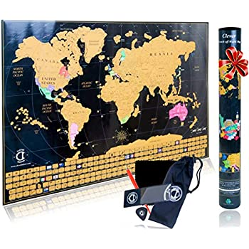 Scratch Off Usa Map Poster Travel Map With State Flags And