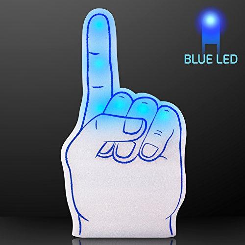 FlashingBlinkyLights Blue Light Up #1 Foam Finger (Set of -