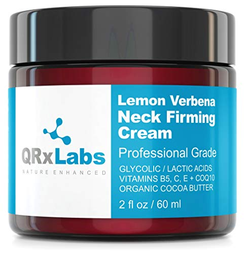 - Lemon Verbena Neck Firming Cream - Tightening & Lifting Moisturizer for Loose, Wrinkled or Sagging Skin on Neck, Decollete & Chest - Best to Prevent Turkey/Crepe Neck - 2 fl oz