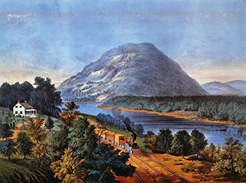 Chattanooga Railroad 1866 Nlookout Mountain Tennessee And The Chattanooga Railroad Lithograph 1866 By Currier & Ives Poster Print by (24 x - Lithograph Tennessee Chattanooga