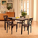 Dporticus 5-Piece Dining Set Industrial Style