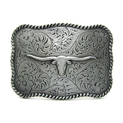 Bullhead Knife - Square Bull Head Vintage Texas Longhorn Buffalo Head Men' S Leather Belt Buckle Lot Metal Cowboy
