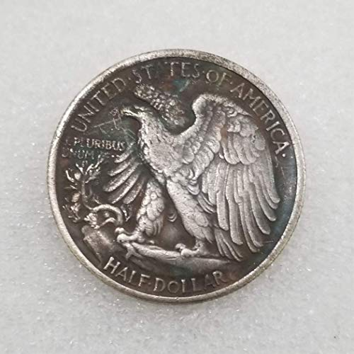 KaiKBax 1916 Antique Liberty Half-Dollars Coin - American Commemorative Coin - US Old Coins- Original Pre Morgan Uncirculated Condition