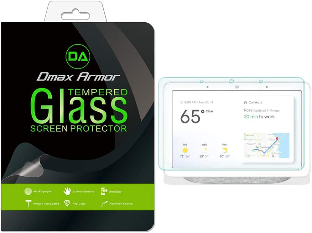 (2 Pack) Dmax Armor for Google Home Hub and Nest Hub (7 inch) Tempered Glass Screen Protector