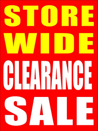 Store Wide Clearance Sale Business Store Retail Signs, 18
