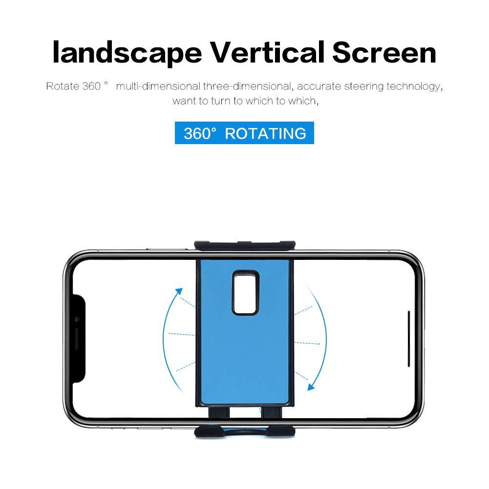 360/° Rotatable Anti-Slip Car Phone Mount Compatible iPhone Xs\XR\XS MAX 8 8P Samsung Galaxy Note 8 S8 S8+ Blue Universal Car Phone Holder Yooh CZZJ-001