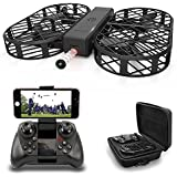 DWI D7 Protable Foldable Arms WIFI FPV Drone with 480P Camera Live Video RTF Helicopter for Kids Adults-Altitude Hold,One-Key Hover,Headless Mode,support HD shooting,VR Split-screen Mode