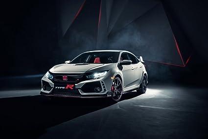 2018 Civic Type R >> Amazon Com Honda Civic Type R 2018 Car Print On 10 Mil