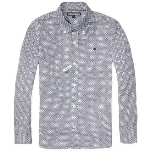 Tommy Hilfiger Hemd Blues Geo Mini Pattern