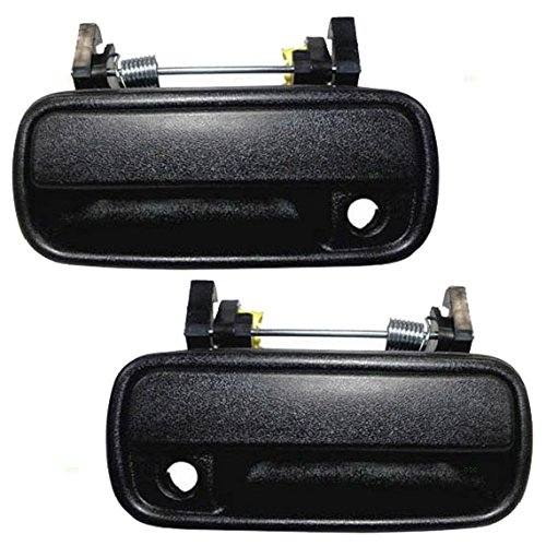Pair Set Front Outside Outer Textured Door Handles Replacement for Toyota Pickup Truck 4Runner 6922089110 6921089110