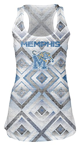 Tigers Womens Tank Top (NCAA Memphis Tigers Women's Sublimated Burnout Tank Top, Medium, White)