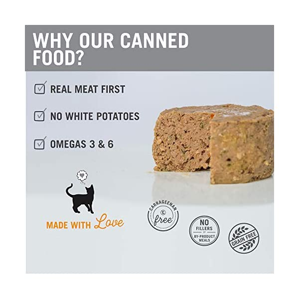 """""""I and love and you"""" Naked Essentials Canned Wet Cat Food - Grain Free, Chicken Recipe, 3-Ounce, Pack of 24 Cans"""
