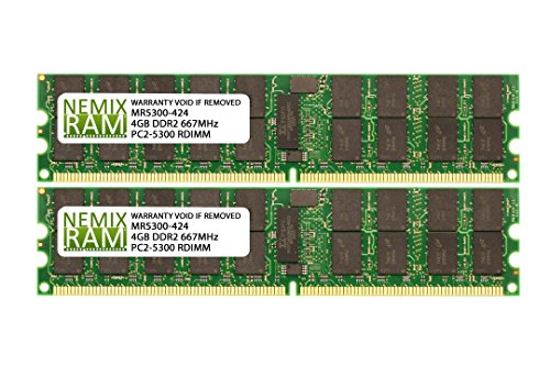 8GB (2x4GB) DDR2-667MHz PC2-5300 ECC RDIMM 2Rx4 1.8V Registered Memory for ()