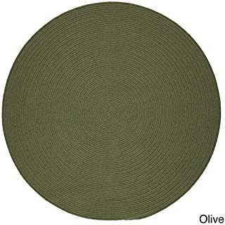 product image for Rhody Rug Venice Indoor/Outdoor Braided Rug (8' Round) Olive
