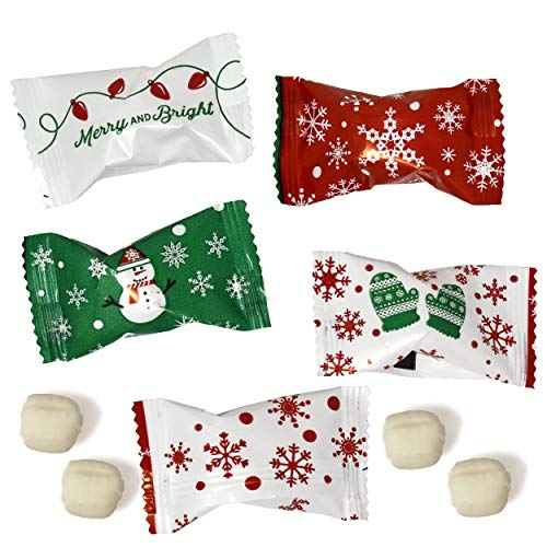 Gift Boutique Christmas Buttermint Candies Bags 100 Count Individually wrapped Mint Candy 14 Ounce Bags (396g) Goodie Treat Sweets Holiday Party Favor stocking stuffers Supplies Decorations