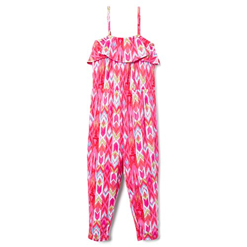 Gymboree Kids' Little Printed Ruffle Romper, Flamingo Pink Ikat, 7