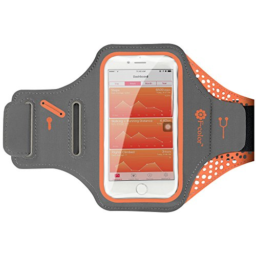 iPhone 7 Armband, F-color Extra Thin and Soft...