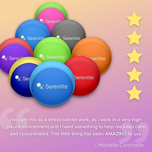 Serenilite Stress Ball & Hand Therapy Gel Squeeze Ball - Great for Hand Exercises and Strengthening - Optimal Stress Relief - Dual Color (Ocean Breeze) by Serenilite (Image #3)