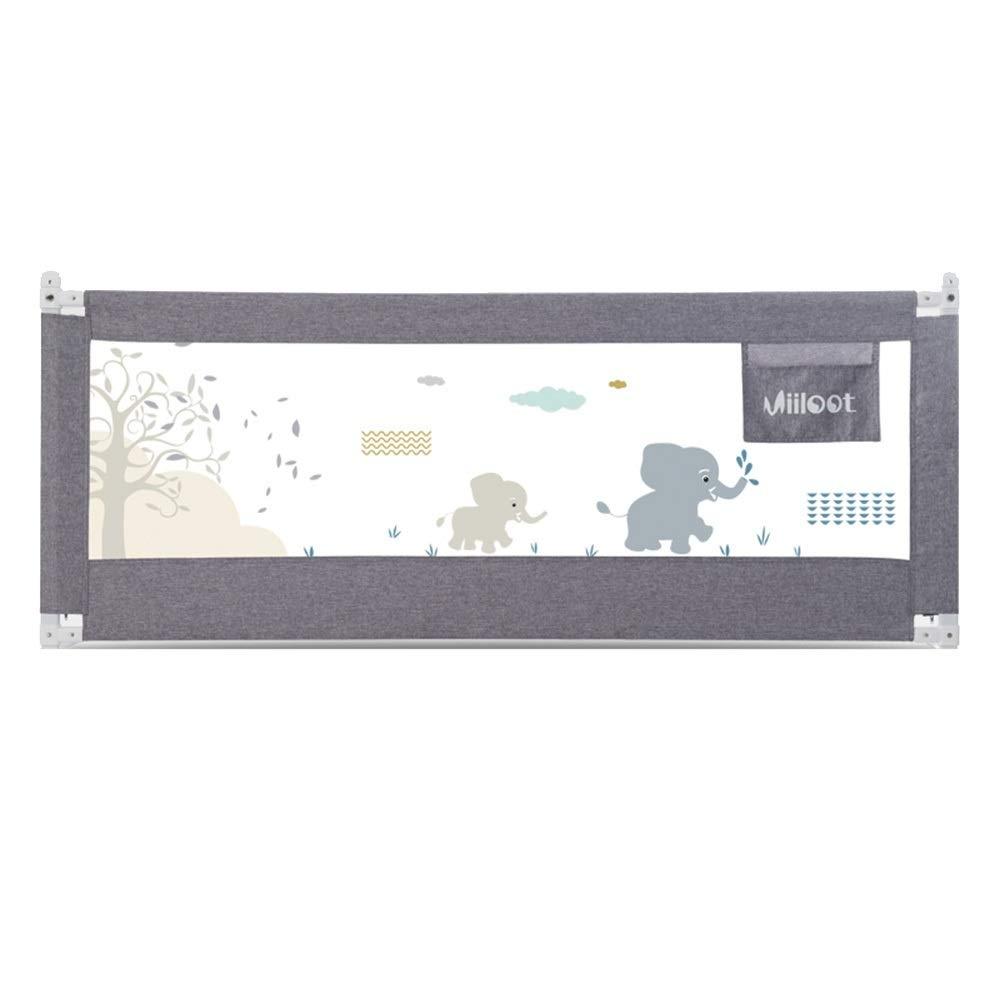 王様 ガードレール ベビーチャイルドベッドサイドガードレール飛散防止ベッド手すり120 Cm、150 Cm、180 Cm、200 Cm、220 Cm - 色オプション (Color : Gray, Size : L-200cm) L-200cm Gray B07TXJDR2F