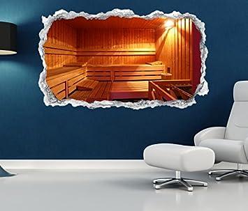 3d Wandtattoo Durchbruch Sauna Raum Spa Wellness Tur Wand Aufkleber