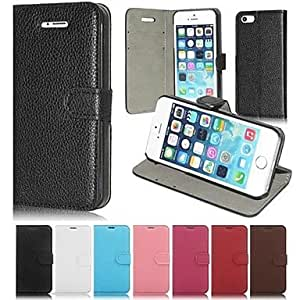 LZX Litchi Grain Pattern Pu Leather Full Body Case for iPhone 5C (Assorted Color) , Pink