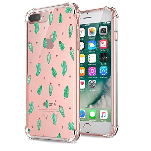 Price comparison product image Beryerbi iPhone 8 Plus Case Clear Soft TPU Anti-Drop Technology Protective Cover (iPhone 8 Plus, 3)
