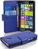 Cadorabo - Funda Nokia Lumia 1320 Book Style de Cuero Sintético en Diseño Libro - Etui Case Cover Carcasa Caja Protección con Tarjetero en AZUL-REAL