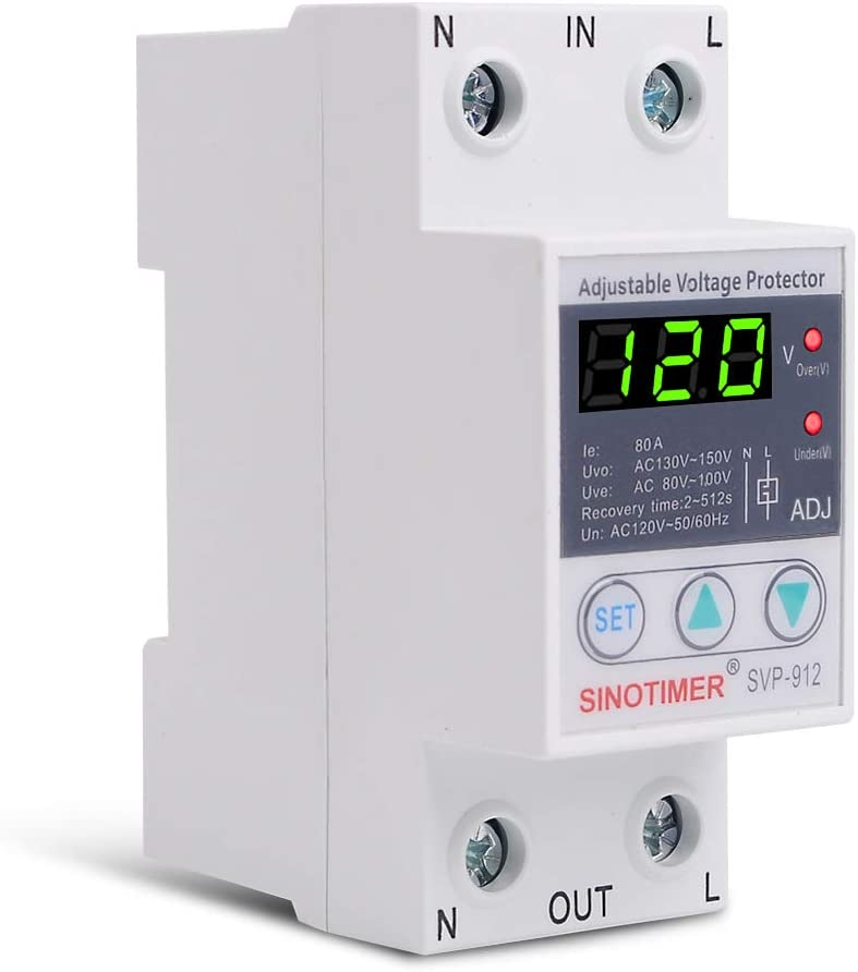 SINOTIMER SVP-912 80A 110V 120V Manual Adjustable Voltage Relay ...