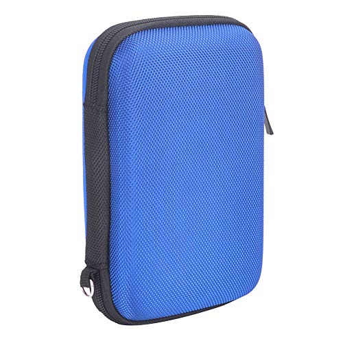 Hard Travel Carrying Case for Seagate Expansion,Backup Plus Slim,WD Elements,My Passport,Toshiba Canvio Basics Portable External Hard Drive,Electronics Organizer (Blue) by Natiker (Image #4)