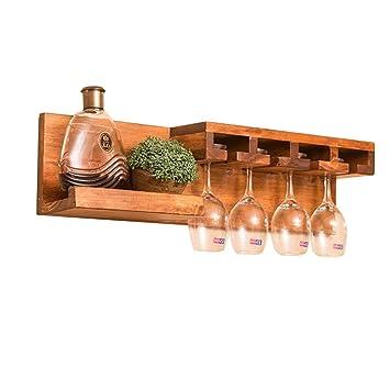 Multifunktions Wandhalterung Holz Weinregal Regal
