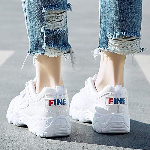 Farbe weiblich Schuhe Kleine Schuhe Student Herbst UK3 Sportschuhe 5 White CN35 weiße FF Size EU36 fHxnB85H