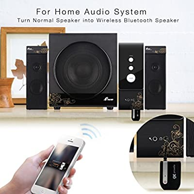 Pulse Wireless Bluetooth Receiver By Proxelle - A2DP Stereo Quality Audio - Instantly Enable Any Device With Bluetooth Streaming by Proxelle