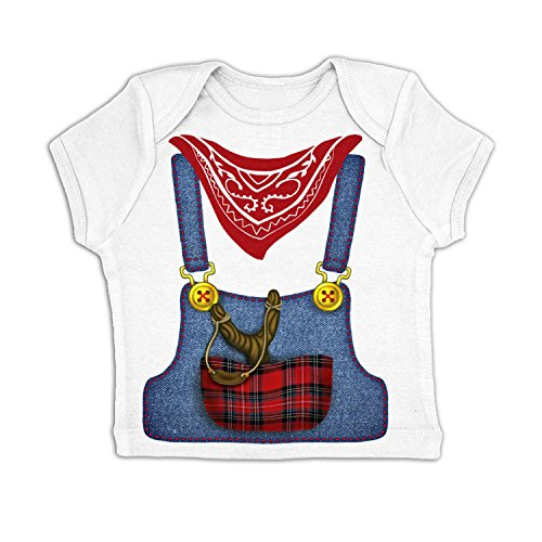 [Hillbilly Costume Baby T-shirt - White 3-6 Months] (Farmers Dress Up Costumes)