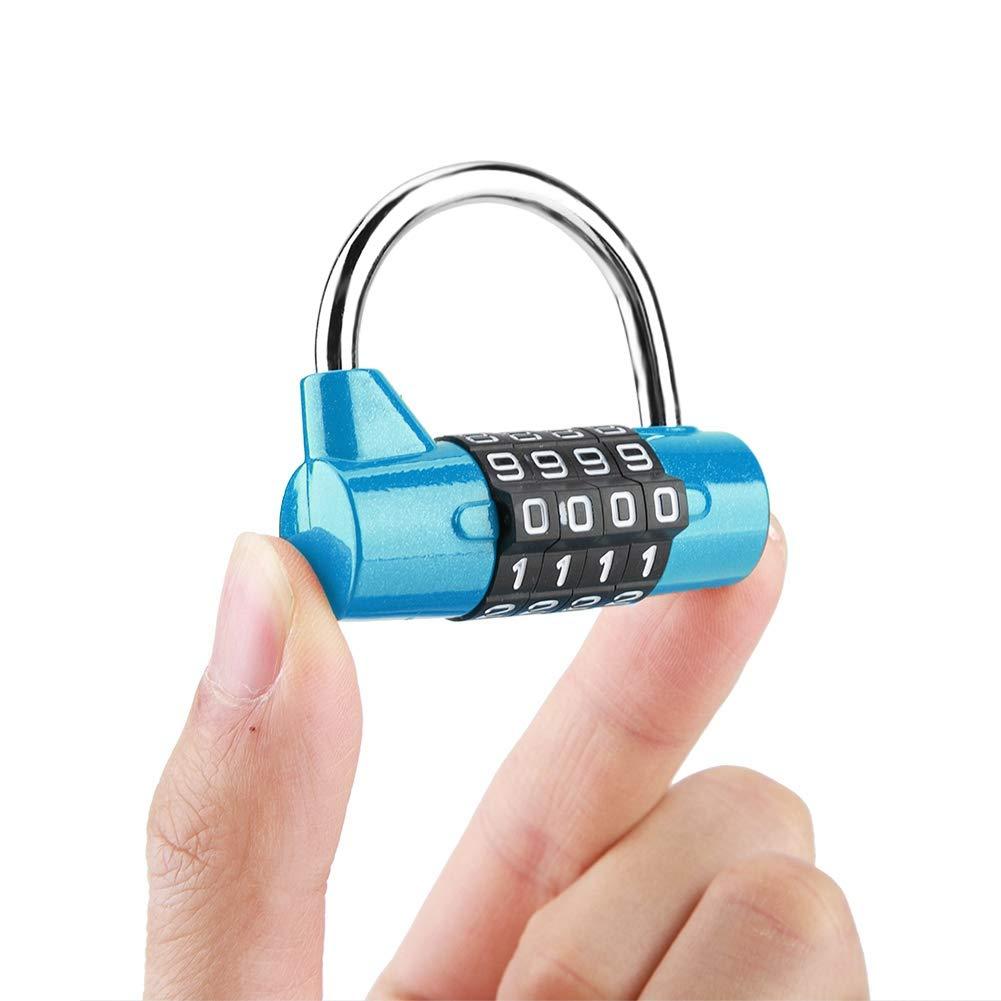 gabinete de casa Caja de viaje Gimnasio Locker C/ódigo de seguridad Bloqueo Red Candado de combinaci/ón con 4 n/úmeros de marcado