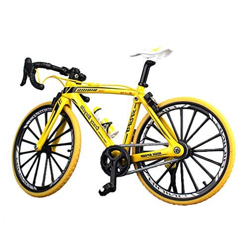 [해외]NUOBESTY Mini Bike Finger Bike Miniature Metal Toys Mini Sports Finger Bicycle Toy Creative Game Toy Set Collections (Curving Grip Yellow) / NUOBESTY Mini Bike Finger Bike Miniature Metal Toys Mini Sports Finger Bicycle Toy Creativ...
