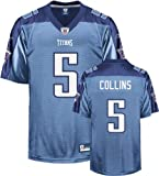 Kerry Collins Light Blue Reebok NFL Premier Tennessee Titans Jersey