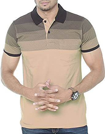 88cc6291aa29 WEXFORD Men's Cotton Polo Beige_Small: Amazon.in: Clothing & Accessories