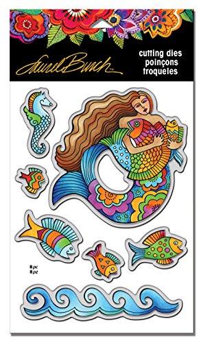 STAMPENDOUS LBDCS03 Laurel Burch Mermaid Fish Die Cut Set