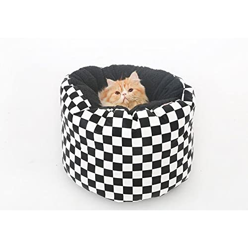 Incredible Lovely Pet Bed Lattice Pu Classic Black And White Leather Is Machost Co Dining Chair Design Ideas Machostcouk