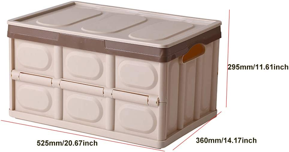 Durable Folding Plastic Storage Crate Cover Design Waterproof and Dustproof Collapsible Storage Bin//Container