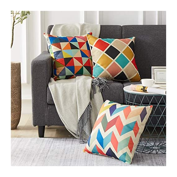 Top Finel Decorative Outdoor Throw Pillow Covers Set - Square Cotton Linen Cushion Covers 18 X 18 Inch for Sofa Couch, Set of 6, Series - SUPER PLUSH MATERIAL & SIZE: Made of high quality cotton linen, comfortable to touch and lay on. 18 X 18 Inch per pack, included 6 packs per set, NO PILLOW INSERTS. WORKMANSHIP: Delicate hidden zipper closure was designed to meet an elegant look. Tight zigzag over-lock stitches to avoid fraying and ripping. NO PECULIAR SMELL: Because of using environmental and high quality cotton linen fabric,our throw pillow cases are the perfect choice for those suffering from asthma, allergen, and other respiratory issues. - patio, outdoor-throw-pillows, outdoor-decor - 51JH1%2BNvGLL. SS570  -