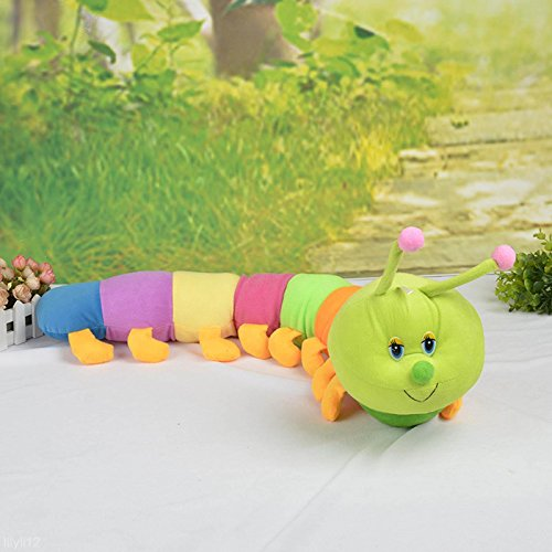 Colored Inchworm Soft Caterpillar Toy Cute Developmental Child Baby Doll 50CM TL
