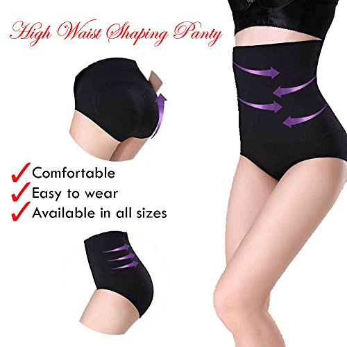 i-Plus Ultra Thin High Waist Shaping Panty, 360 Tummy Control Body Shaper Slimming Shapewear Women (Black, Medium-Large(Waist 59-80 cm))