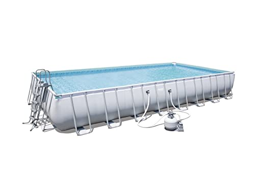 Piscina rectangular Power Steel Frame Pools + filtro de ...
