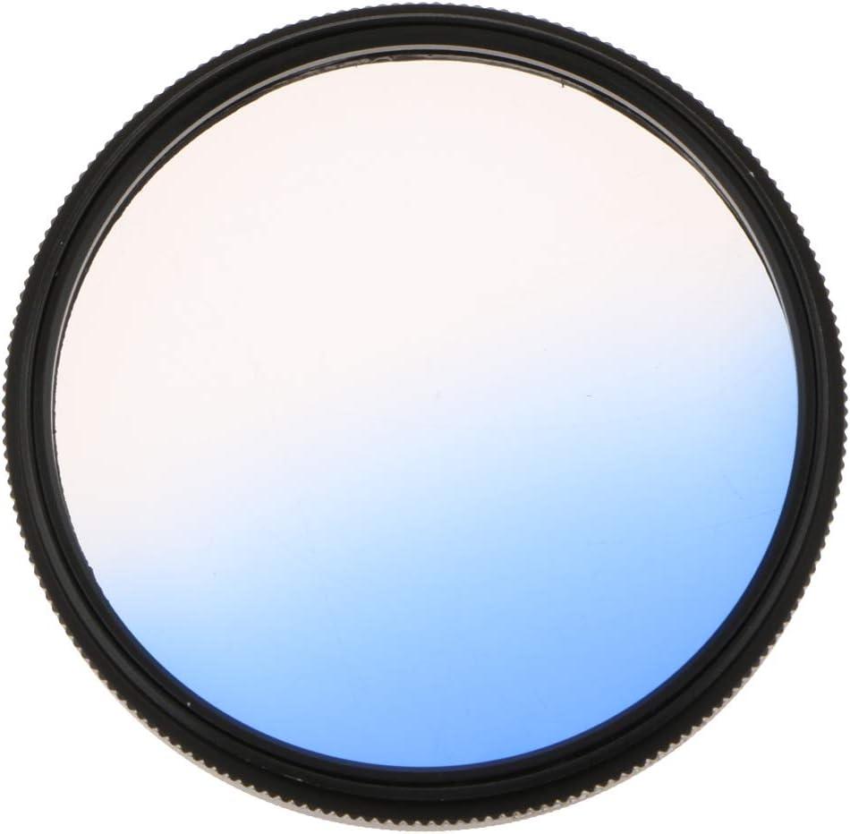 F Fityle Circle Circular Gradient SLR Camera Lens Filter 58mm ﹝Blue﹞