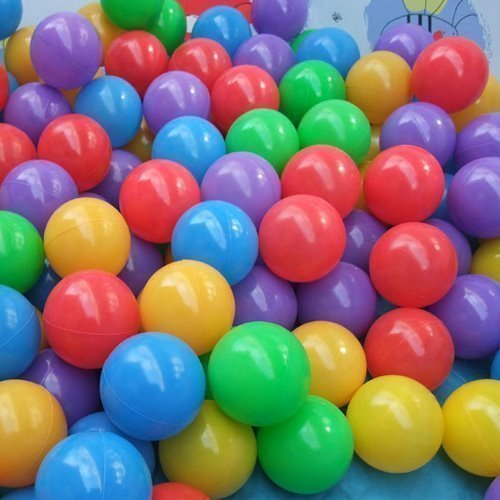 """50 Pcs Colorful Fun Plastic Soft Balls Swim Toys Ocean Ball Pit for Play Tents Playhouses Kiddie Pools Pack 'N Play Bounce Houses 2.16"""""""