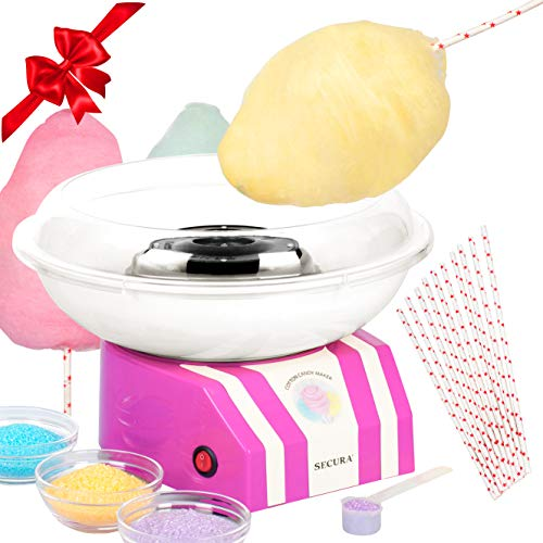 Secura Cotton Candy Machine Sugar Free Hard Candy Floss Maker Homemade Sweets Party
