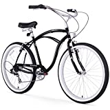Firmstrong Urban Man Seven Speed Beach Cruiser Bicycle, 26-Inch, Black
